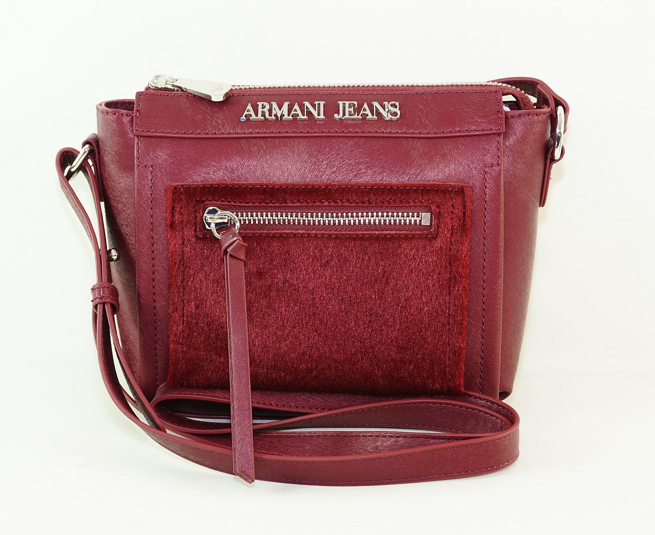 Armani Jeans Handtasche Shopper Tasche WOMEN'S SLING BAG 922104 6A728 00176 Bordeaux HW16-1