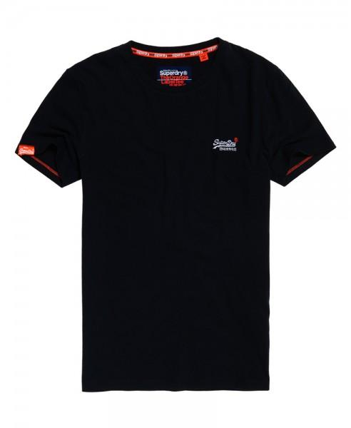 Superdry T-Shirt Orange Label Vntge Emb Rundhals M10003NS Eclipse Navy 98t WJ19-SDT1
