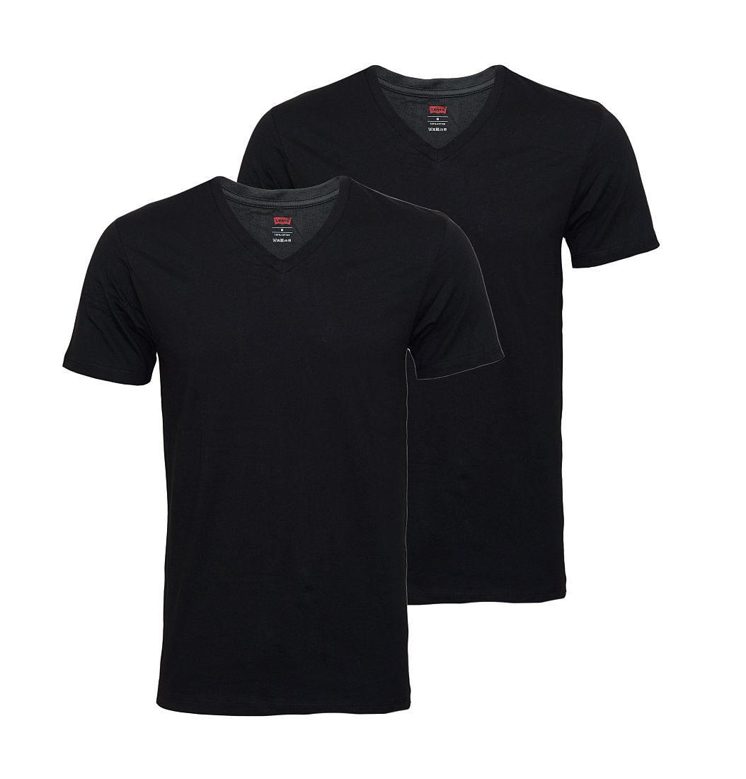 LEVIS Shirts 200SF 2er Pack T-Shirt 945004001 884 Jet Black SF17-LVSS1