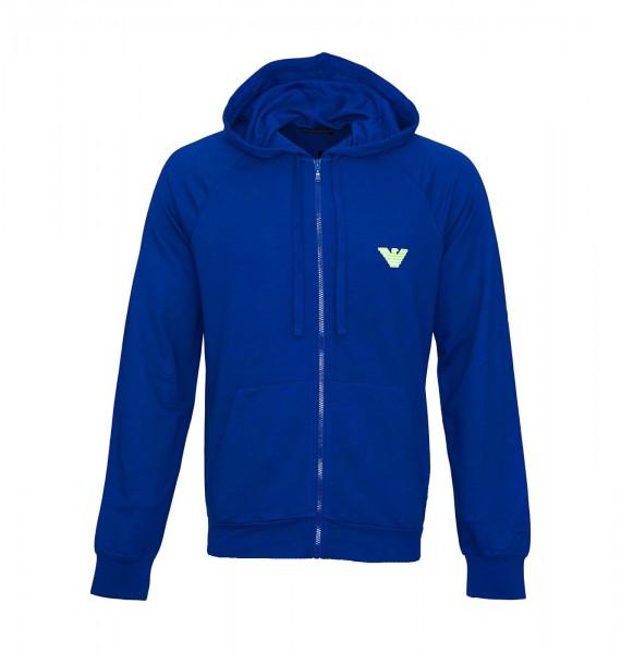 Emporio Armani Hooded Sweatjacke Zipper 111835 9P575 15834 blau SS19-EAS1