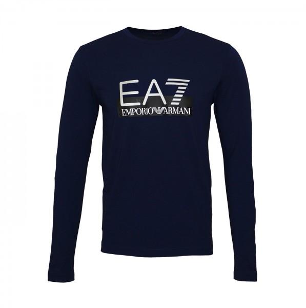 EA7 Emporio Armani Longsleeve Shirt R-Neck 6GPT64 PJ03Z 1554 navy blue HW19-EAL1
