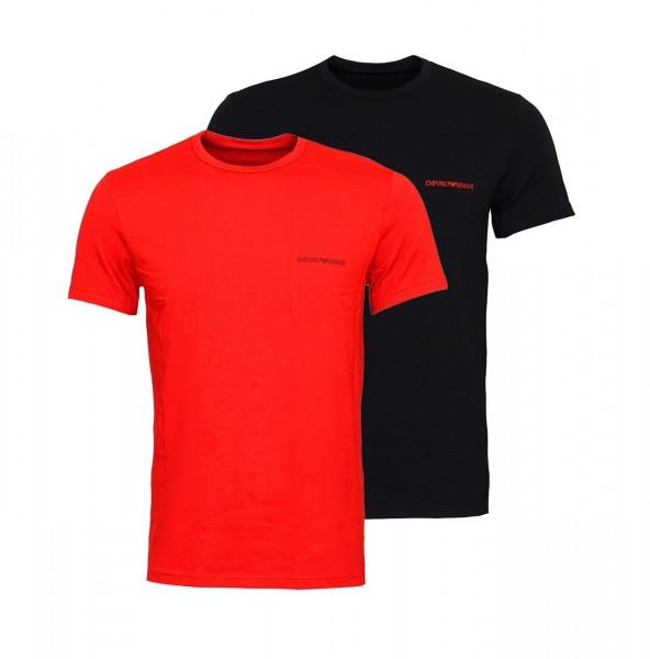 Emporio Armani 2er Pack T-Shirt Crew-Neck 111267 9A717 60020 red, black SH19-EAX1