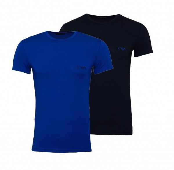 Emporio Armani 2er Pack T-Shirt Crew-Neck 111670 9A715 61535 navy blau SS19-EAT1