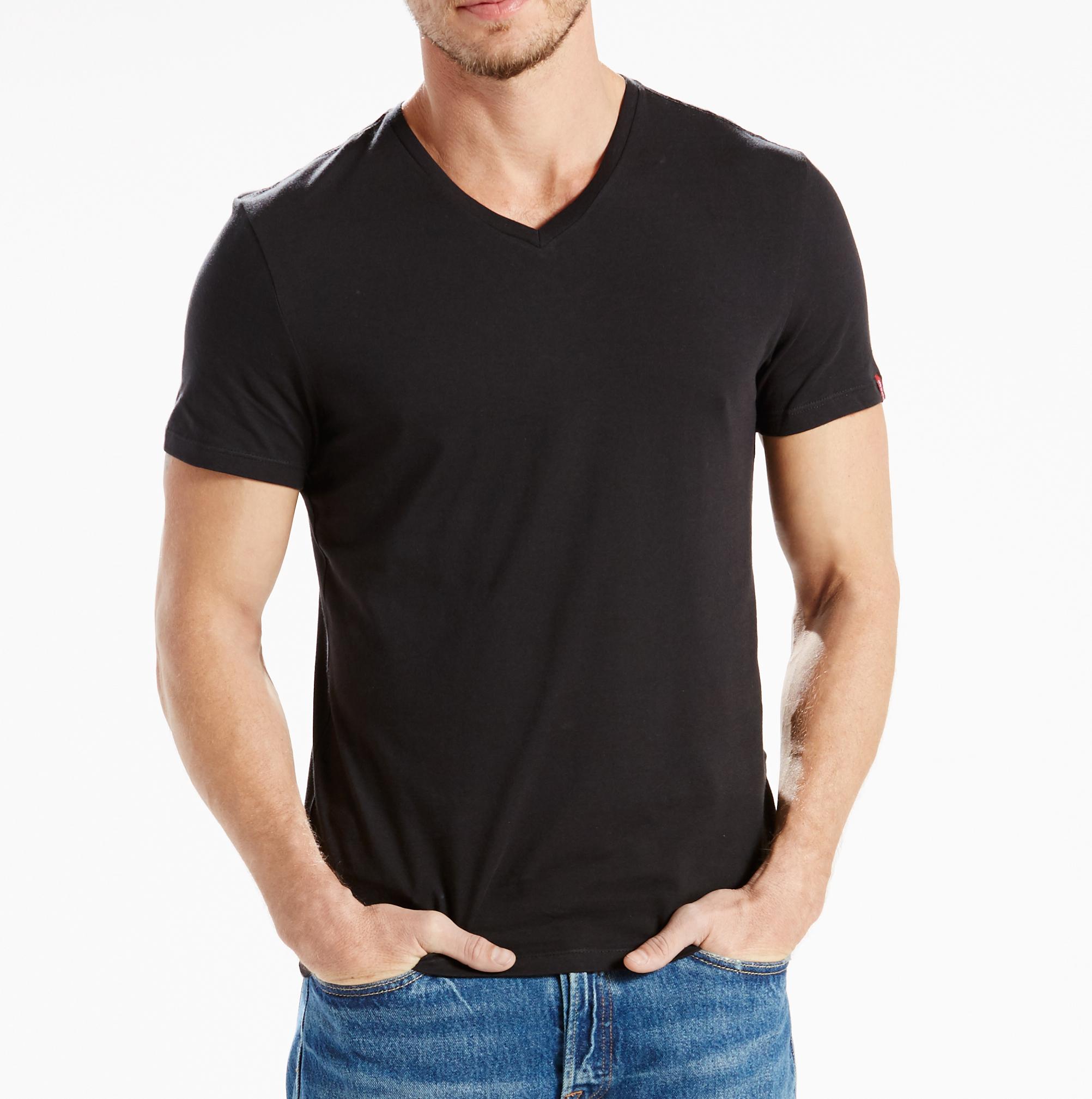 LEVIS 2er Pack Shirts V-Ausschnitt T-Shirt 82983-0010 schwarz W18-LVT1