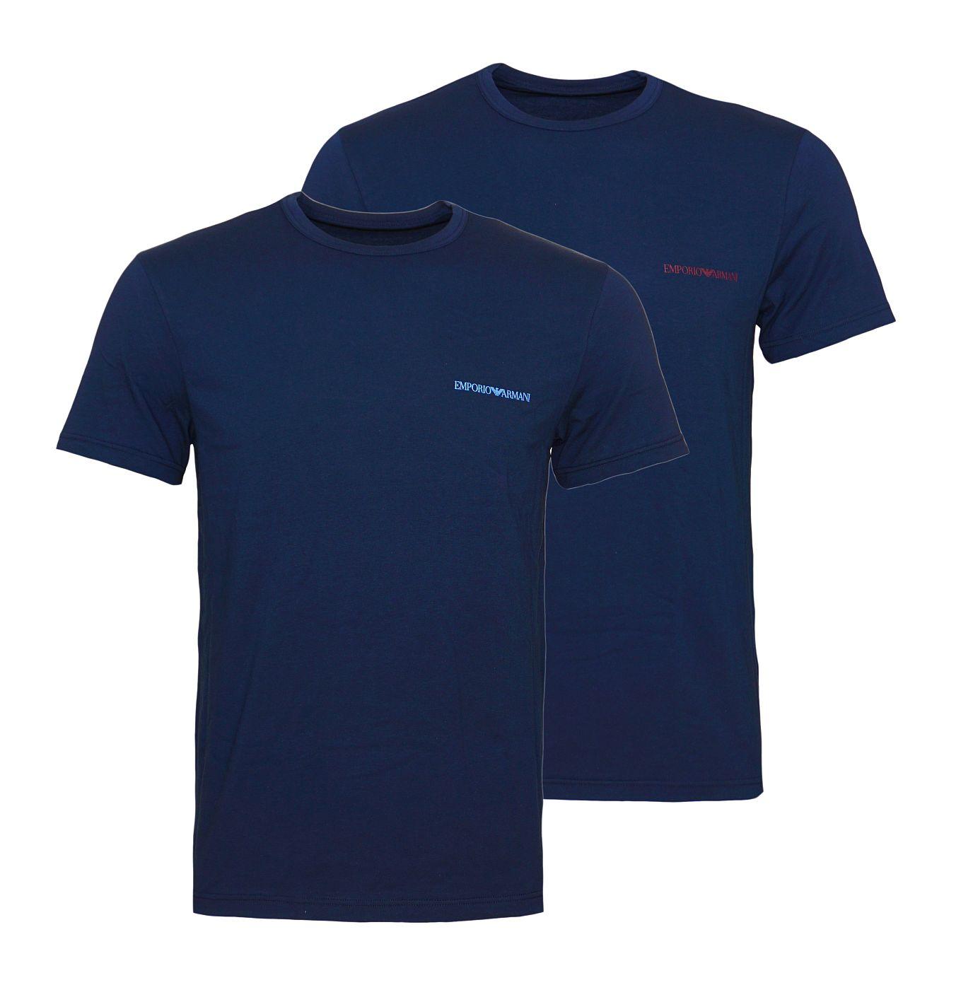 Emporio Armani 2er Pack T-Shirts Rundhals 111267 8A717 27435 MARINE/MARINE SH18-EAT1