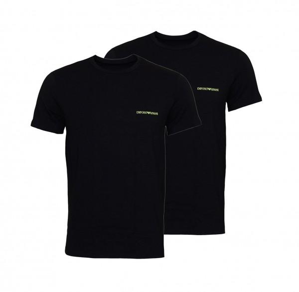 Emporio Armani 2er Pack T-Shirt Crew-Neck 111267 9A717 07320 black SH19-EAX1