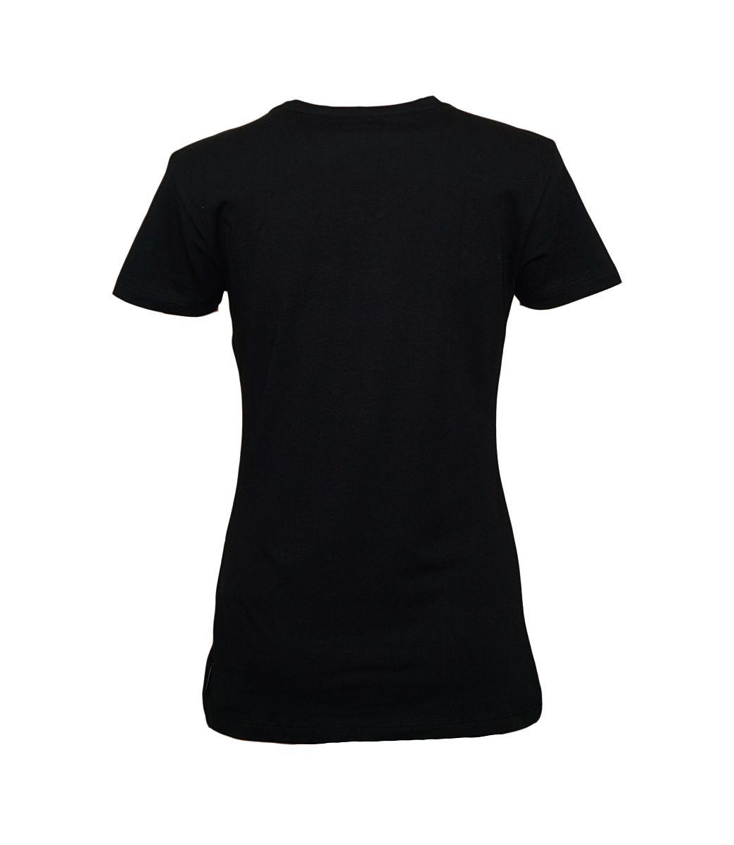 Emporio Armani Damen T-Shirt V-Ausschnitt 163321 7A263 00020 NERO HW17-EADS1