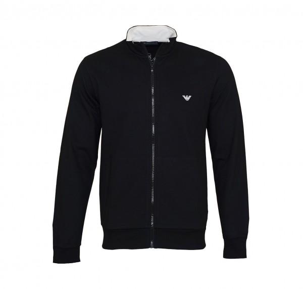Emporio Armani Sweater Sweatjacke Zipper 111532 9P571 00020 schwarz SS19-EAS1