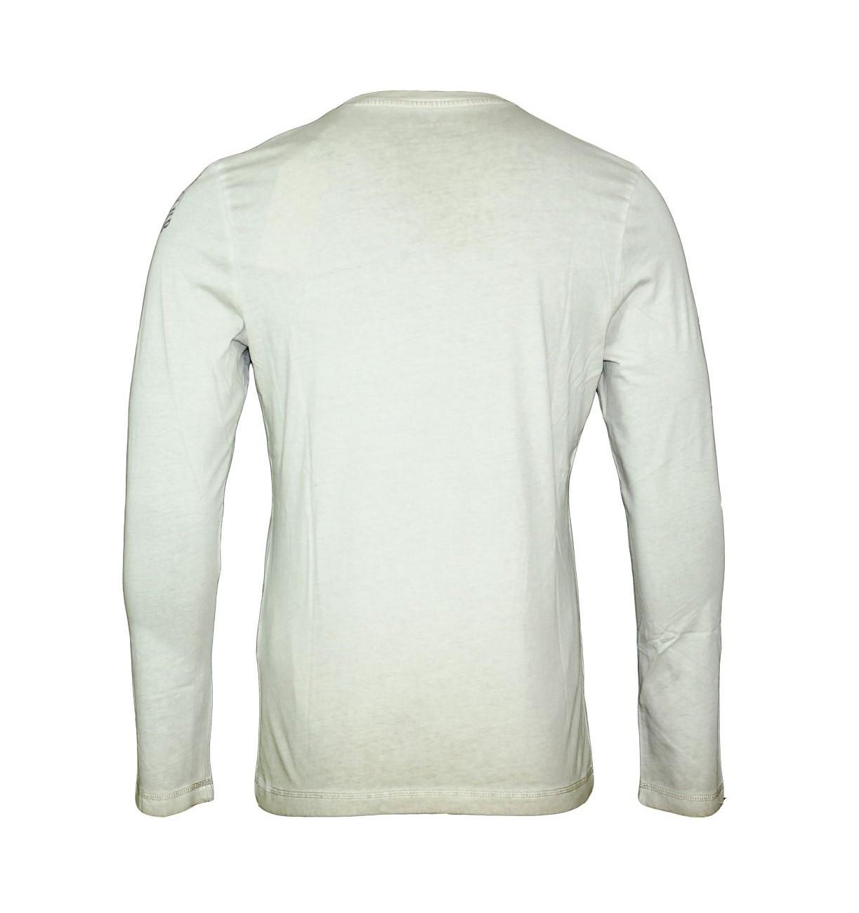 Tom Tailor Shirt Pullover Longsleeve Rib Neck Henley 1034074 9910 beige, creme