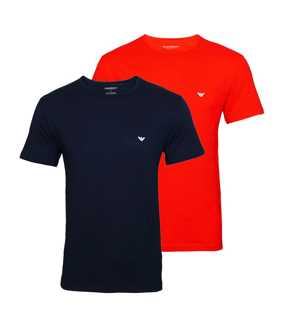 Emporio Armani T-Shirts 2er Pack Shirts 111267 7P722 18335 MARINE/ROSSO S17-EANT1
