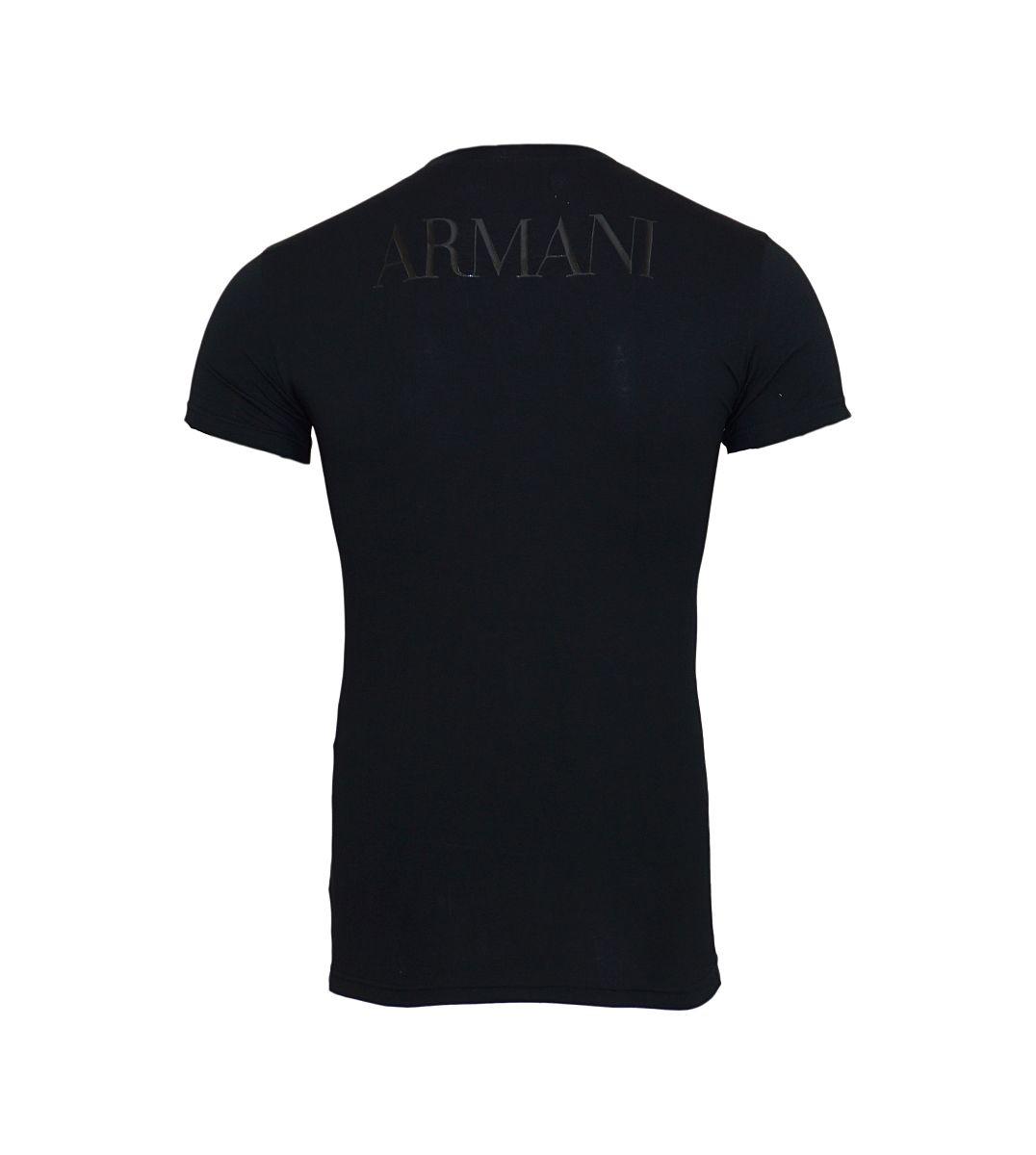 Emporio Armani T-Shirt Shirt Rundhals 111035 7A516 00020 NERO HW17-EATS1