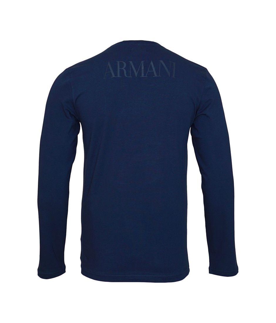 Emporio Armani Longsleeve Shirt Rundhals 111653 7A516 00135 MARINE SH17-EALS1