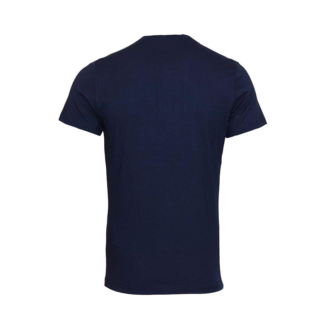TOMMY HILFIGER Shirt T-Shirt navy Organic Henley ss 2S87905398 416