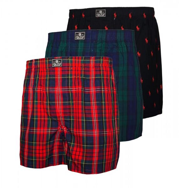 Ralph Lauren 3er Pack Boxer Boxershorts 71475301 5005 multicolor SH19-RL2