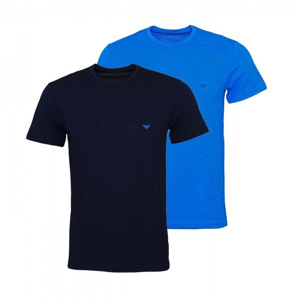 Emporio Armani 2er Pack T-Shirts Rundhals 111267 9P722 25833 navy, blau FS19-EAT2
