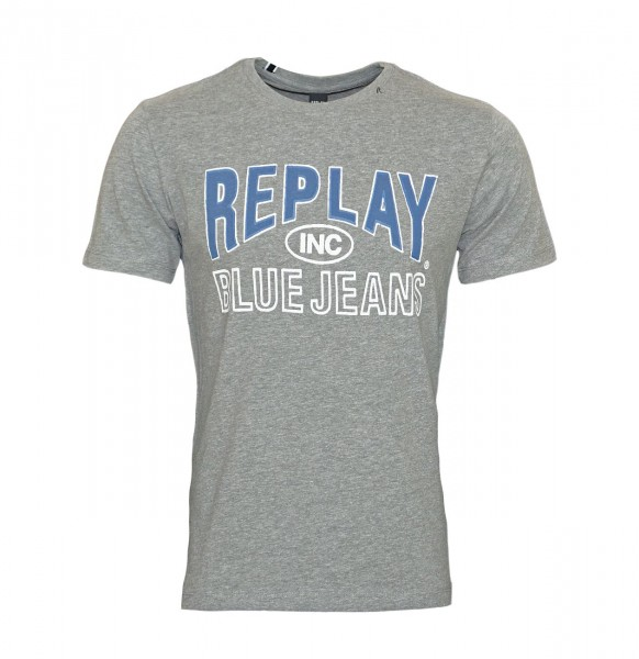 Replay T-Shirt Shirt Rundhals M3598.000 2660.M03 DARK GREY MELANGE WJ19-RPS2
