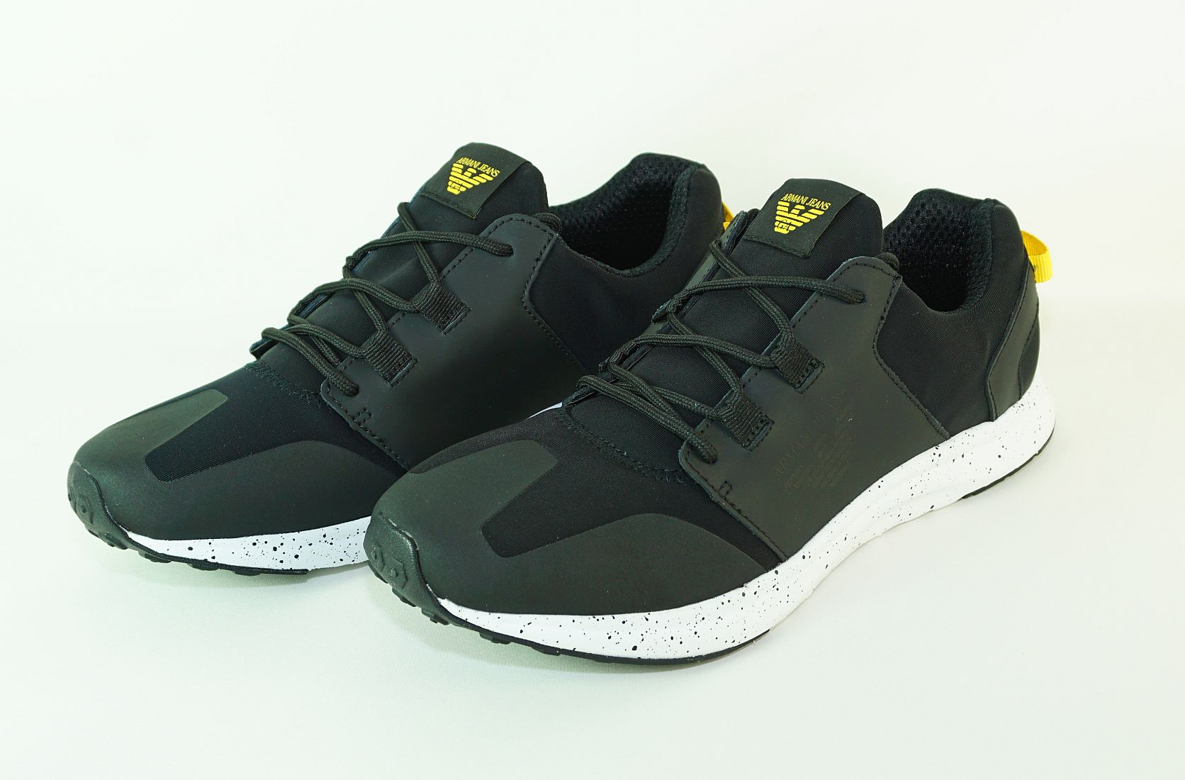Armani Jeans Schnürschuhe Sneaker Low Cut 935037 7P416 00020 Nero schwarz S17-AJS1