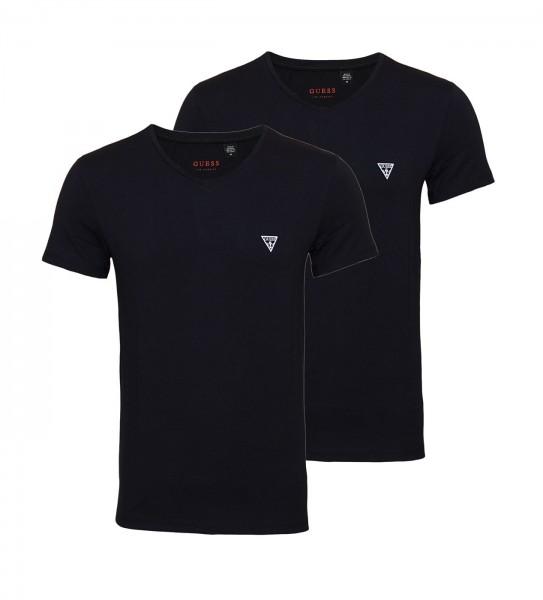 Guess 2er Pack T-Shirt V-Neck U97G03JR003 A996 black WF20-GT1