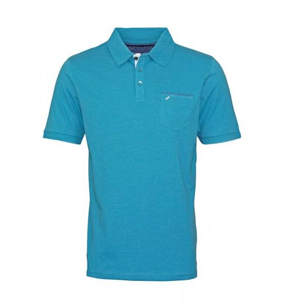 Daniel Hechter Polo Poloshirt 75022 191914 610 turquoise FS19-DHP2