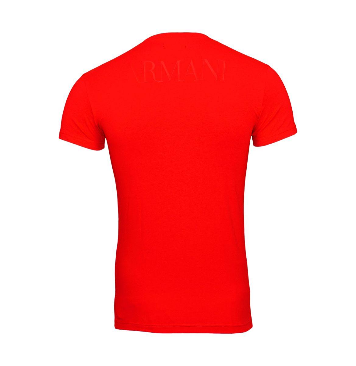 Emporio Armani T-Shirt Rundhals 111035 8P516 17574 TANGO RED W18-EATS1
