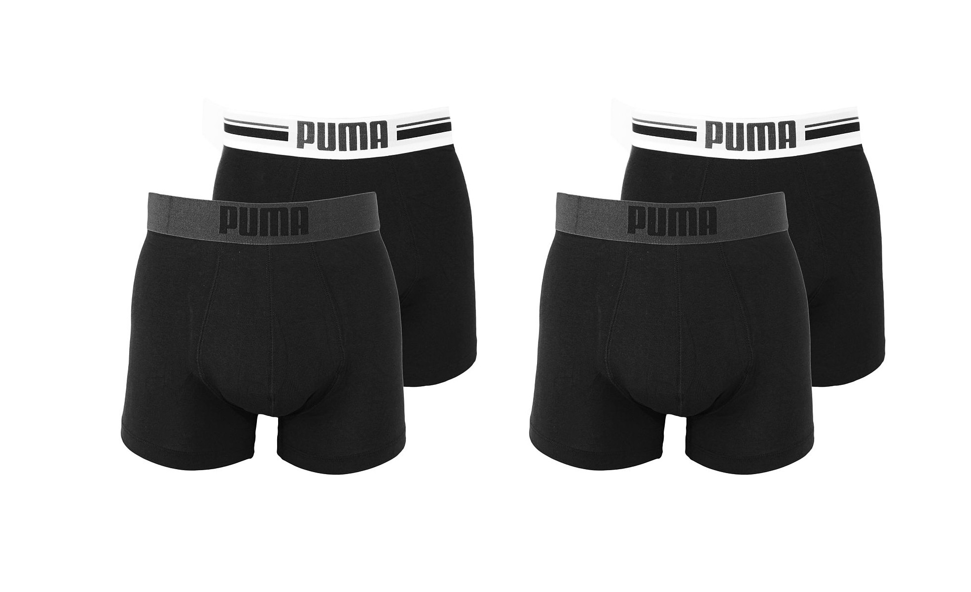 PUMA Shorts Unterhosen 2 x 2er Pack Boxer 651003001 200 020 black SF17-PMS2