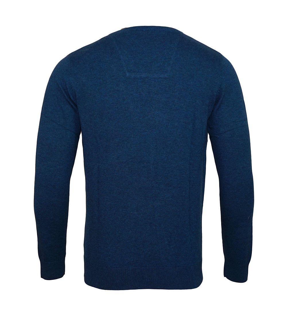 Tom Tailor Pullover Sweater Strickpullover V-Ausschnitt dunkelblau 3021321 0910 6047 WF17-J1