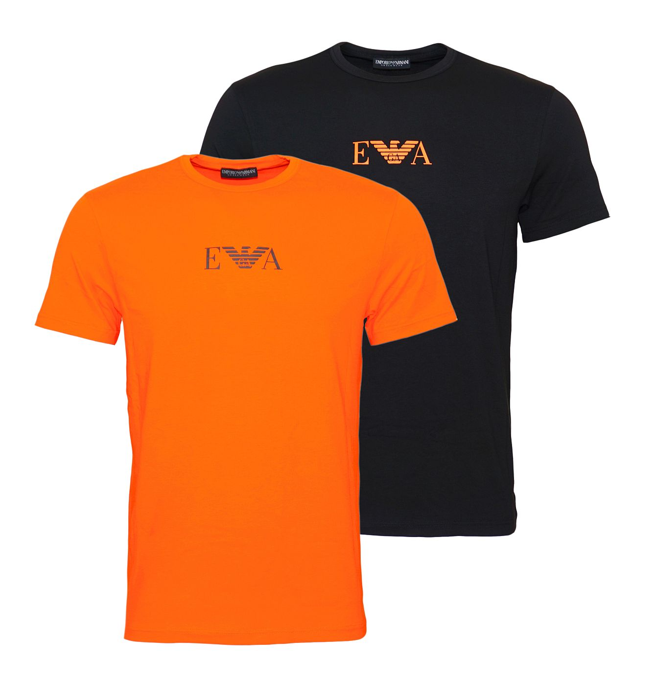 Emporio Armani 2er Pack T-Shirts Rundhals 111267 8A715 04220 NERO/FIAMMA SH18-EAT1