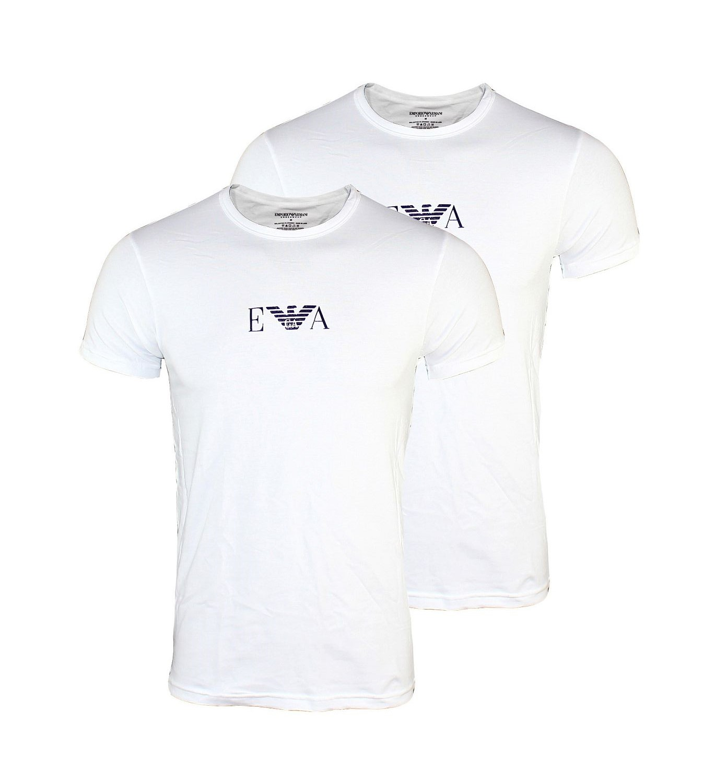 EMPORIO ARMANI 2er Pack Shirt T-Shirt Mod. CC715 111267 04710 Rundhals weiss
