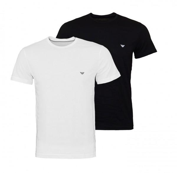 Emporio Armani 2er Pack T-Shirts Rundhals 111267 9P722 01610 schwarz, weiß FS19-EAT2