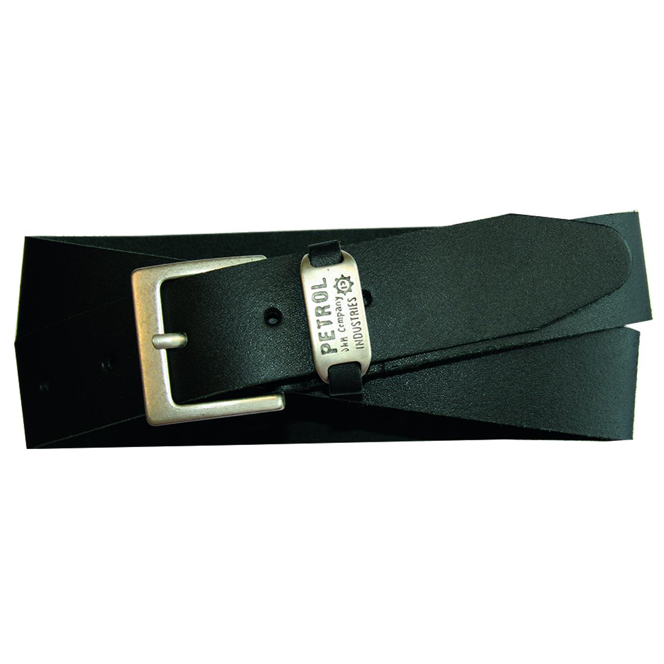 PETROL Industries Ledergürtel Leder Gürtel schwarz PE16 40250 black