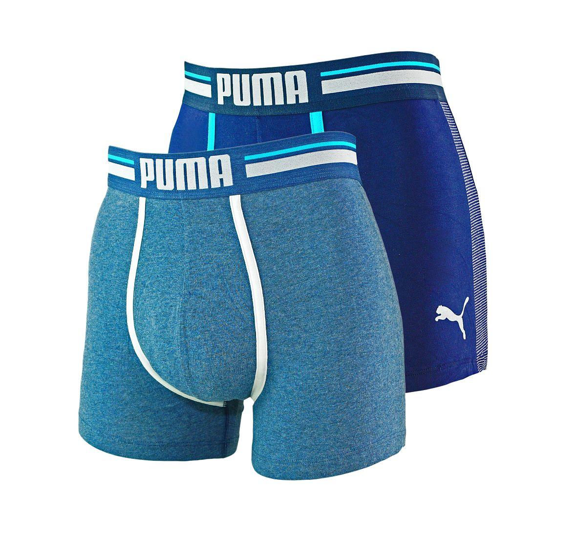 PUMA Shorts Unterhosen 2er Pack Boxer 571005001 056 020 blue SF17-PMS1
