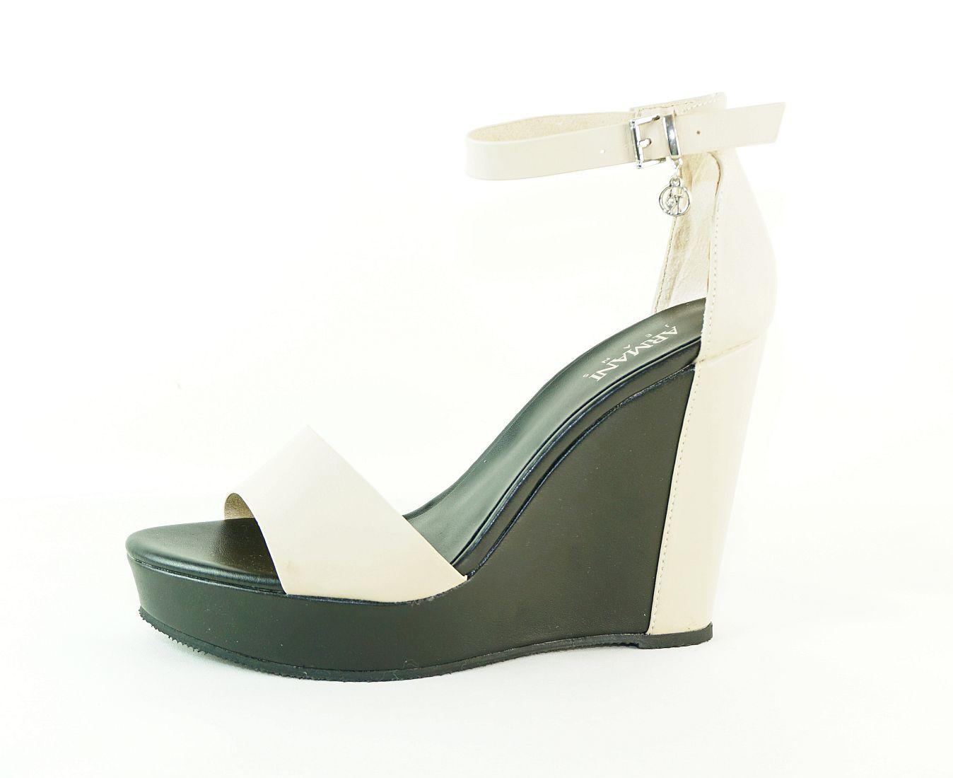 Armani Jeans Schuhe SANDALO ZEPPA 925152 7P546 06250 Light Beige S17-AJS1