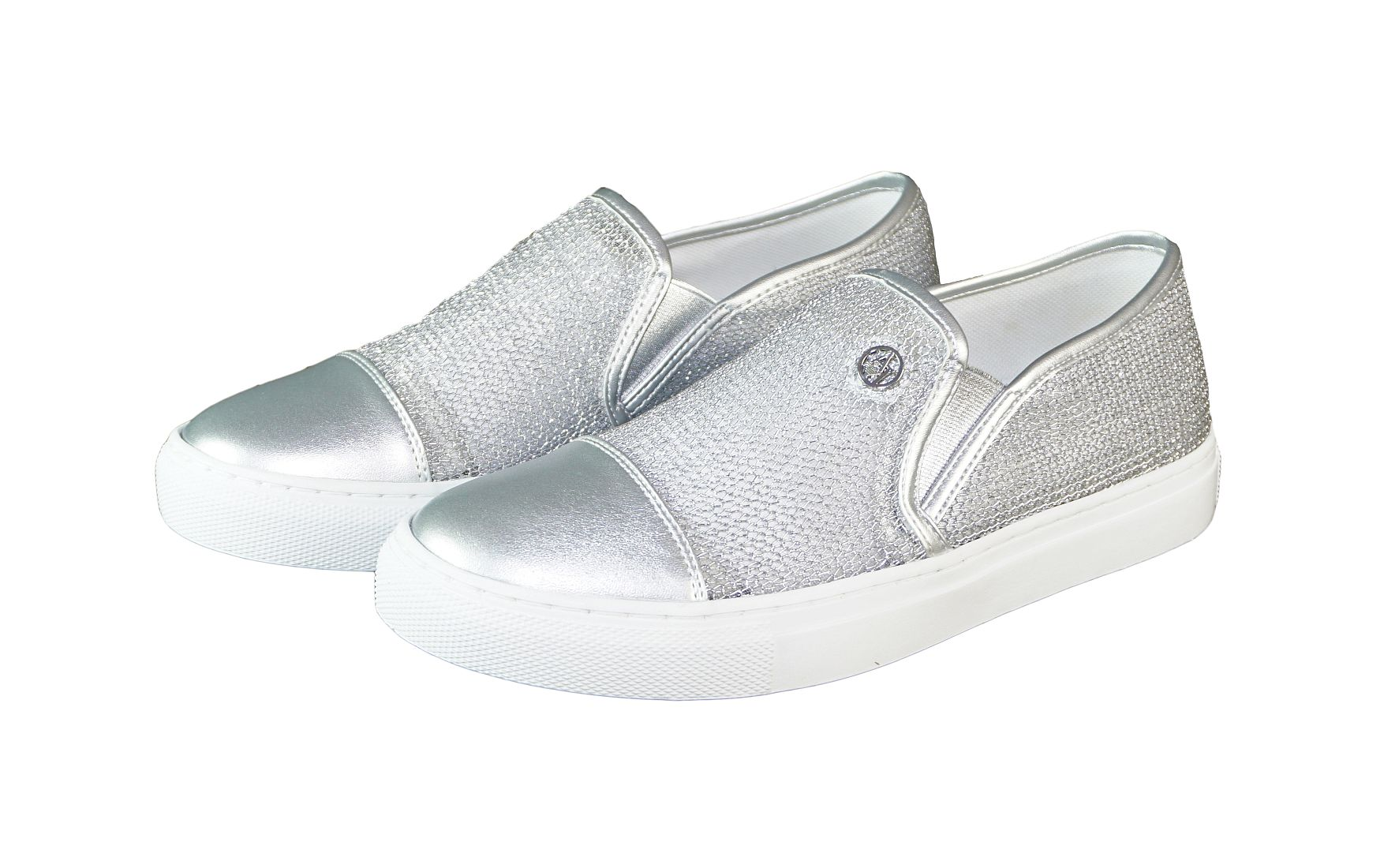 Armani Jeans Schuhe SLIP ON 925195 7P583 00017 Argento silber S17-AJS1