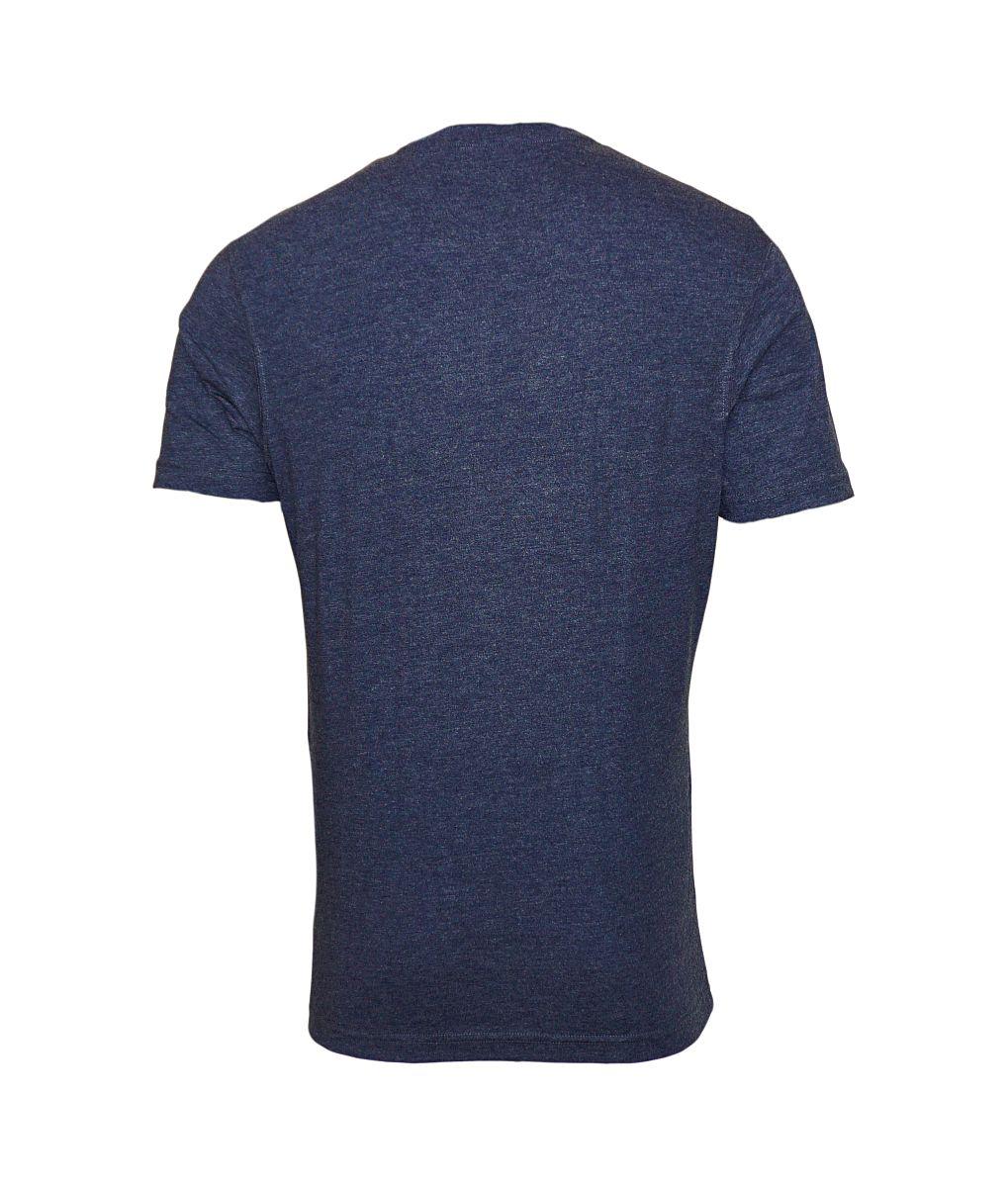 Daniel Hechter 2er Pack T-Shirts V-Ausschnitt 76002 172972 680 blau melange SH17-DH2P