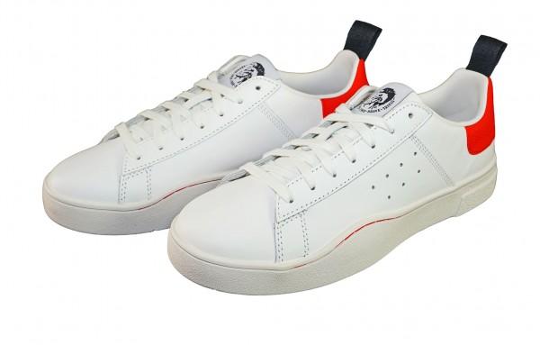 Diesel Sneaker CLEVER Low Y01748 P1729 H5872 white Fiery red SH19-DS1
