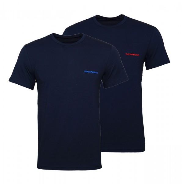 Emporio Armani 2er Pack T-Shirts Rundhals 111267 9P717 27435 marine W19-EA2