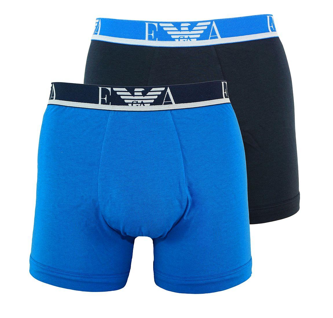 Emporio Armani 2er Pack Boxershorts Unterhosen BLU CINA/MARINE 111268 7P715 18133 WF17-EAB1