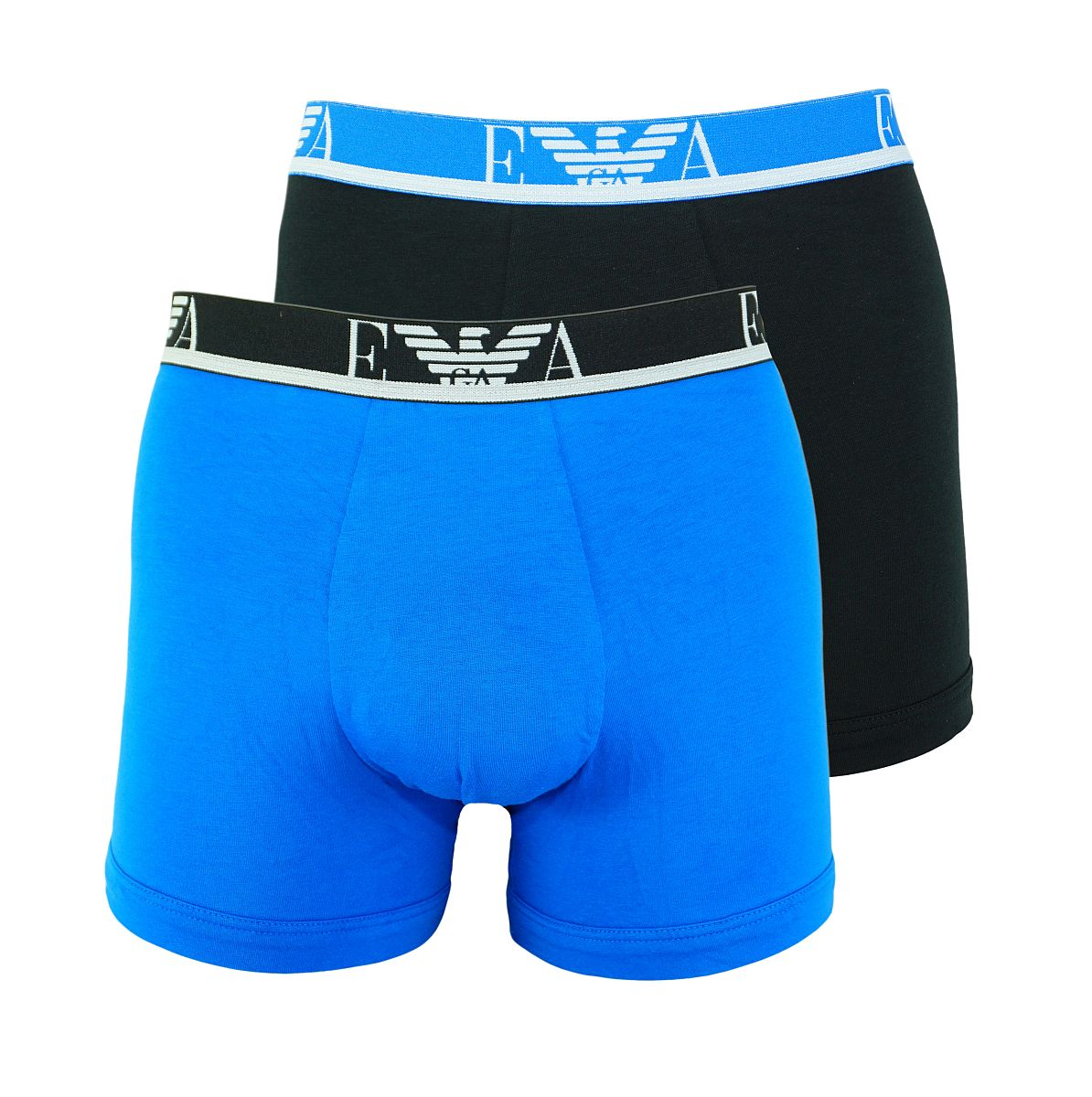 Emporio Armani 2er Pack Shorts Boxer Unterhose 111268 8P715 22233 CIELO/NERO W18-EAB1