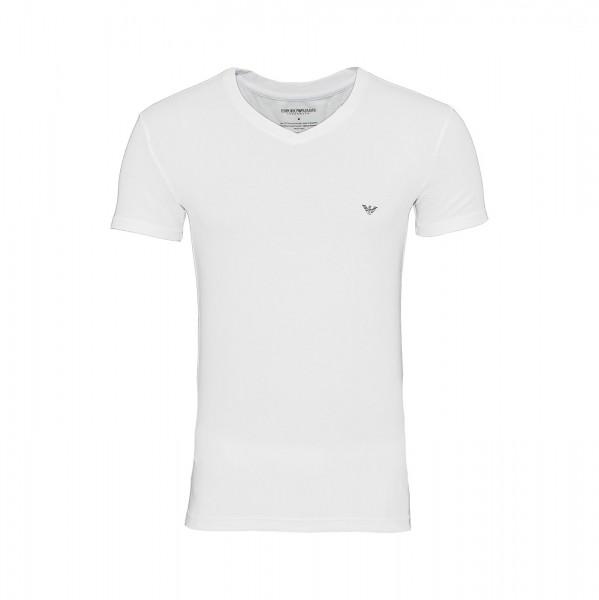 Emporio Armani T-Shirt V-Neck 110810 9P745 00010 weiß FS19-EAT1