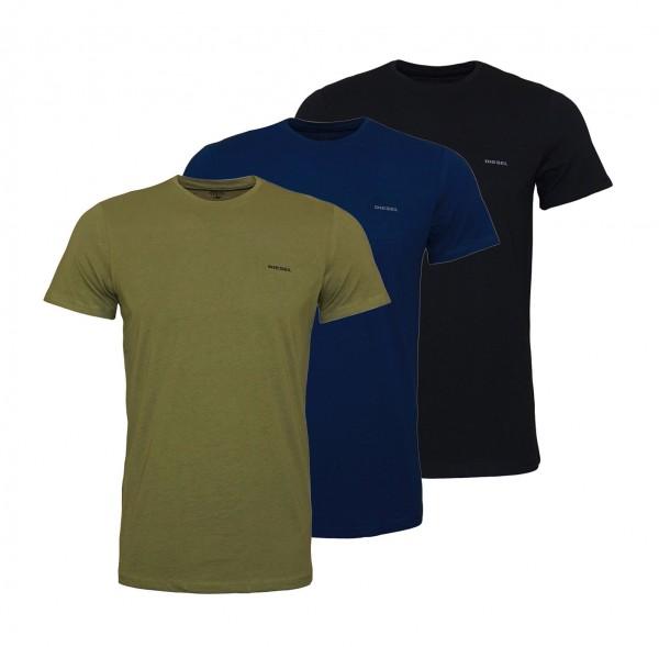 Diesel T-Shirts Jake Rundhals OAALW E4079 schwarz, navy, oliv SS19-DS1