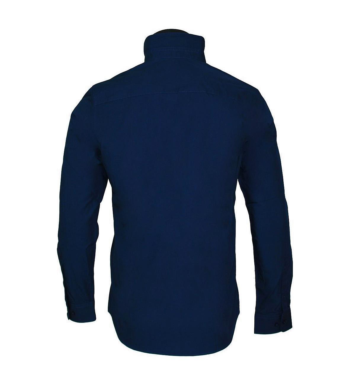 Tom Tailor Hemd Herrenhemd Floyd stretch shirt 2031470 9910 navy