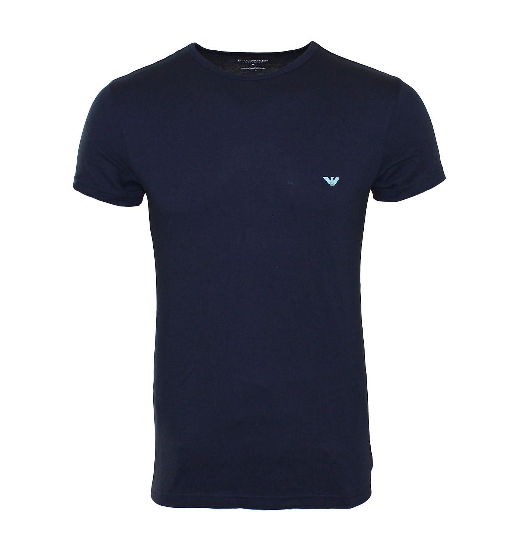 EMPORIO ARMANI 2er Pack Shirt T-Shirt 111267 5P712 26035 blau, navy Rundhals gp