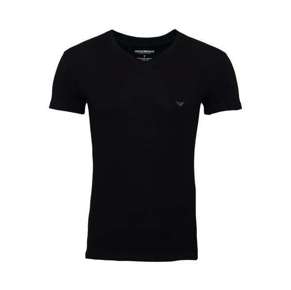 Emporio Armani T-Shirt V-Neck 110810 9P745 00020 schwarz FS19-EAT1