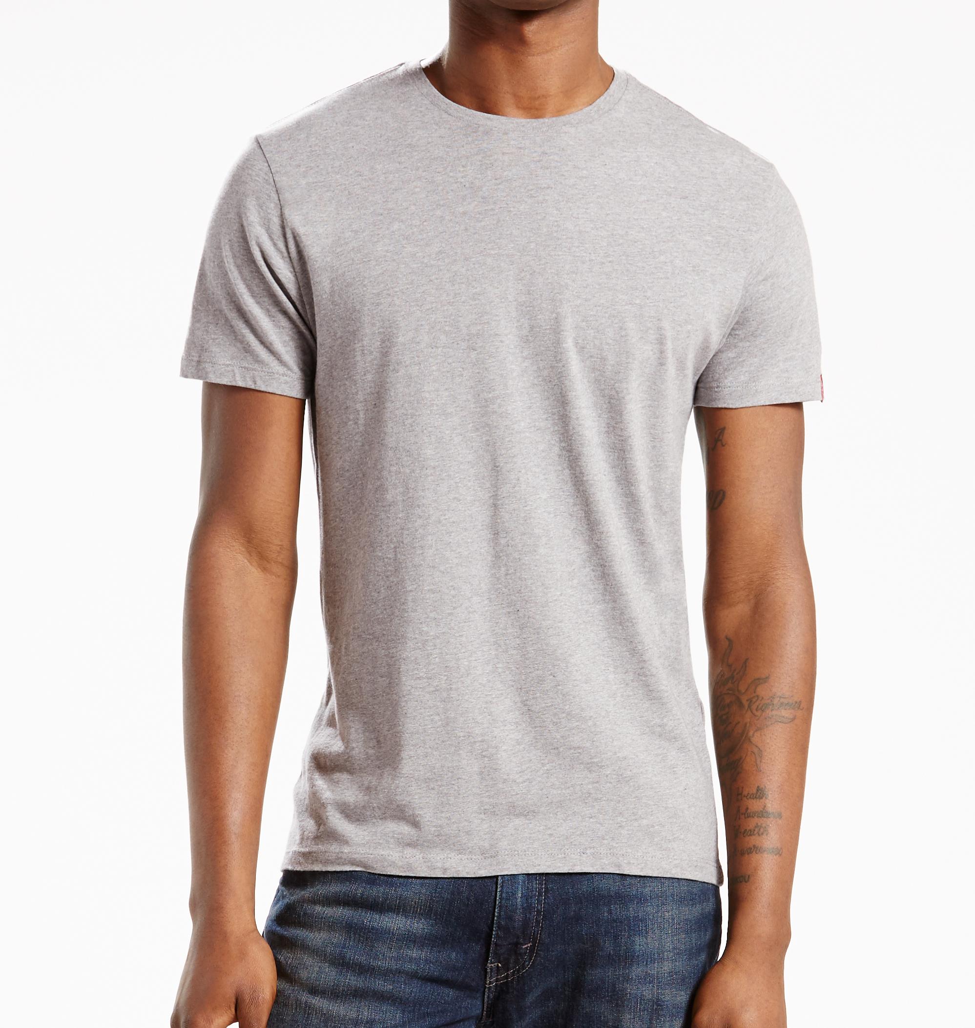 LEVIS 2er Pack Shirts Rundhals T-Shirt 82176-0005 grau W18-LVT1