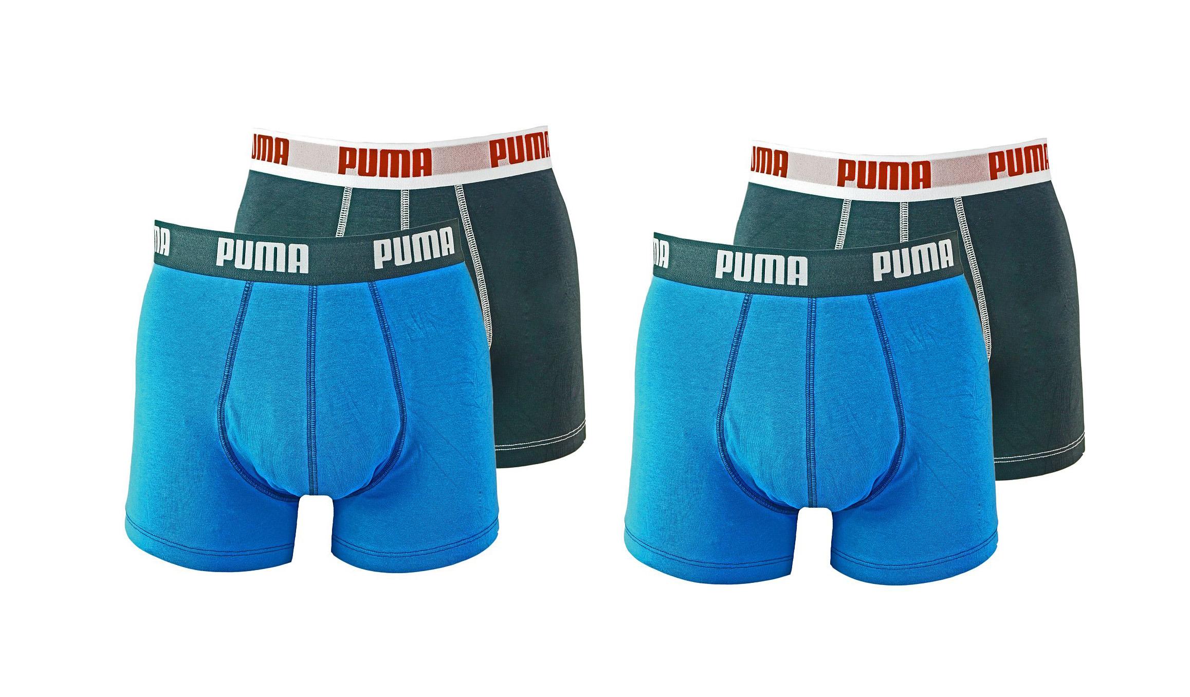 PUMA Shorts Unterhosen 2 x 2er Pack Boxer 521015001 056 020 blue SF17-PMS2