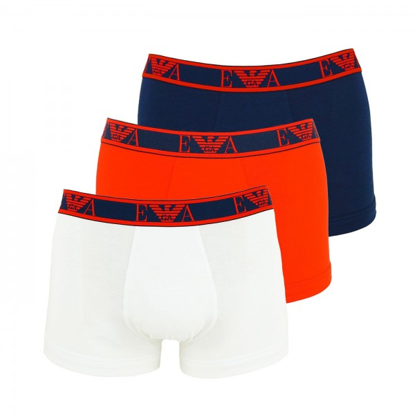 Emporio Armani 3er Pack Trunk 111357 0P715 66535 navy, red, white WF20-EA2