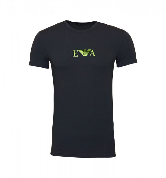Emporio Armani T-Shirt Rundhals Crew-Neck 111035 9A715 00044 anthrazit SS19-EAT1