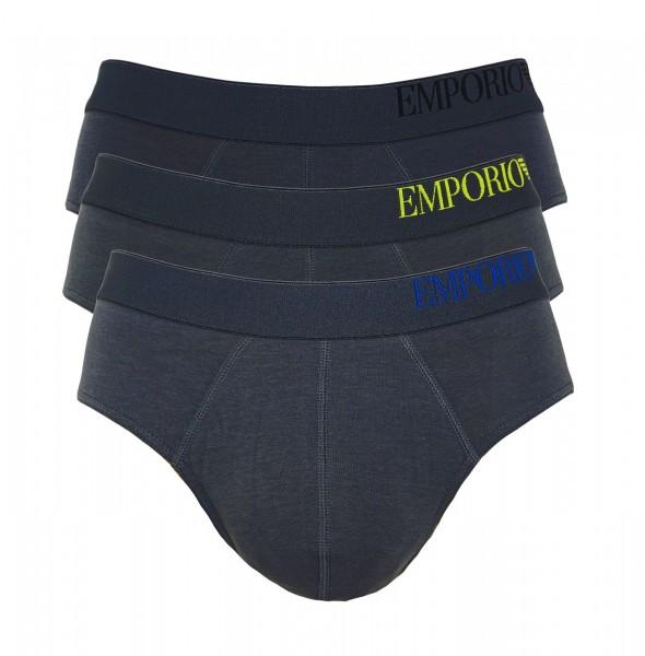 Emporio Armani 3er Pack Brief Unterhosen 111734 CS713 23644 anthrazit SS19-EAB1