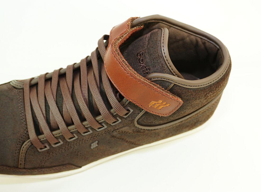 Boxfresh Schnürschuhe Schuhe Swich Blok UH WXD E-14833 Dunkelbraun Braun Sneaker SH17-BFS1