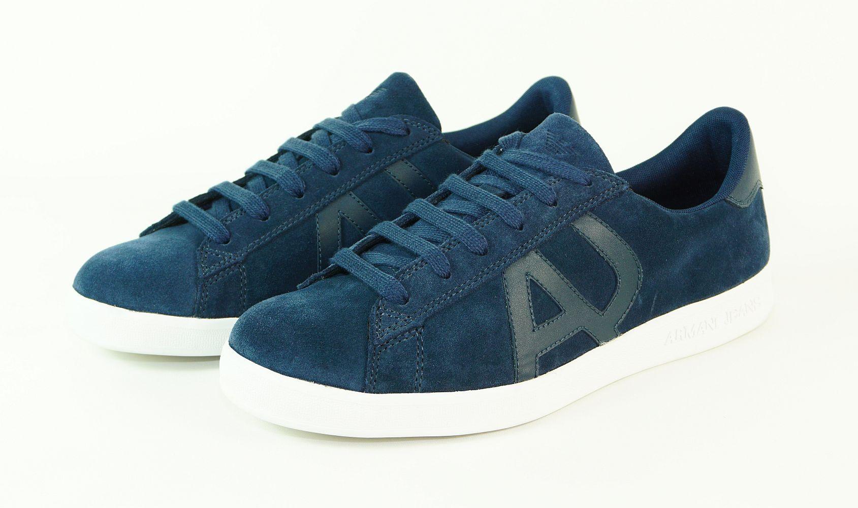 Armani Jeans Schuhe Sneaker Low Cut 935565 CC501 32335 Blue Peacoat HW16-AJ
